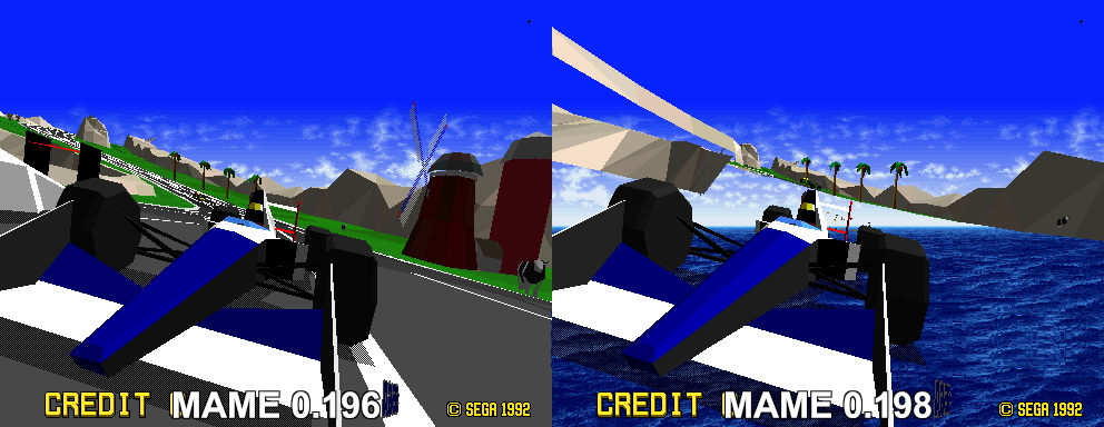 07025: vr: Virtual Racing graphic glitches - MAME Testers