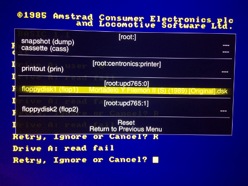07134: CPC6128: Amstrad CPC6128 Floppy drive - MAME Testers